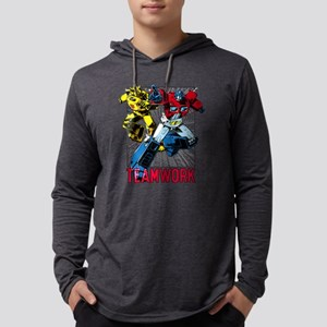 Transformers Teamwork Mens Hooded Shirt