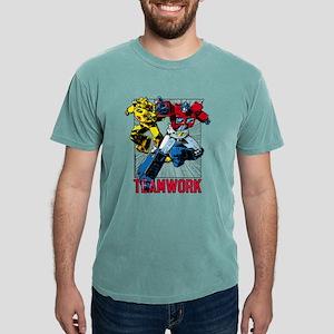 Transformers Teamwork Mens Comfort Colors Shirt