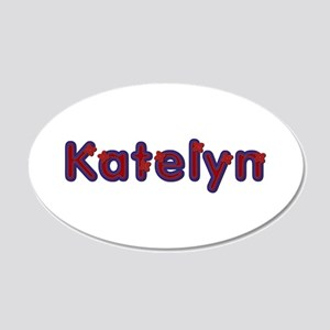 Katelyn Red Caps 20x12 Oval Wall Decal