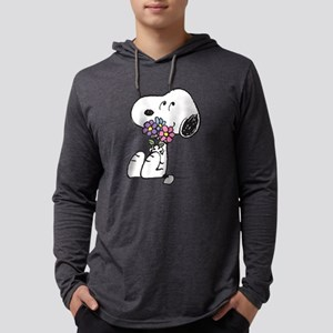 Snoopy - Flowers Mens Hooded Shirt