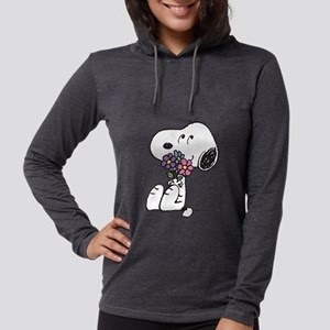 Snoopy - Flowers Womens Hooded Shirt