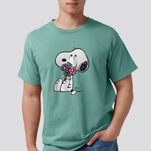Snoopy - Flowers Mens Comfort Colors Shirt