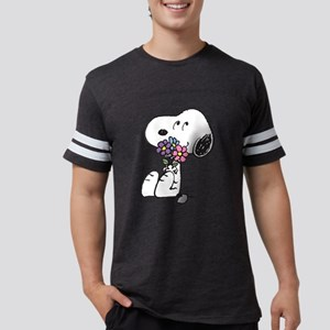 Snoopy - Flowers Mens Football Shirt