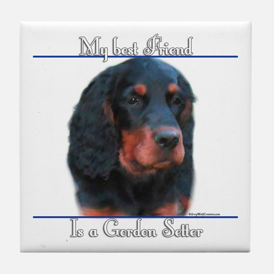 Gordon Best Friend2 Tile Coaster