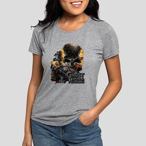 Ghost Rider Skull Womens Tri-blend T-Shirt