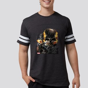 Ghost Rider Skull Mens Football Shirt