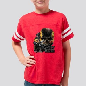 Ghost Rider Skull Youth Football Shirt