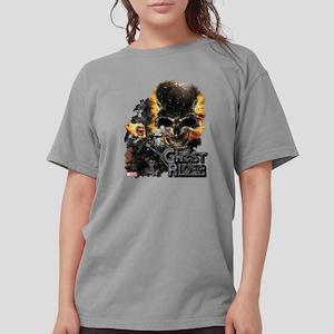 Ghost Rider Skull Womens Comfort Colors Shirt
