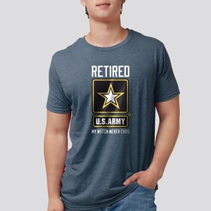 US Army Watch Never Ends Mens Tri-blend T-Shirt