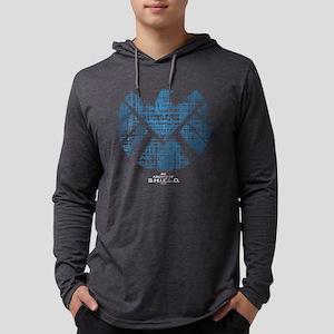 SHIELD Logo Alien Writing Dark Mens Hooded Shirt