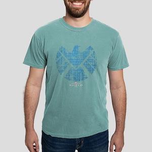 SHIELD Logo Alien Writin Mens Comfort Colors Shirt