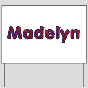 Madelyn Red Caps Yard Sign