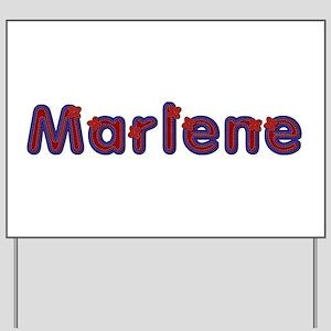 Marlene Red Caps Yard Sign