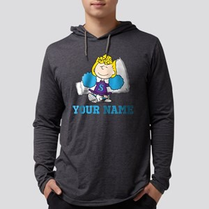 Snoopy Sally Cheer Personalized Mens Hooded Shirt