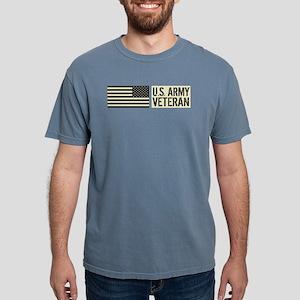 U.S. Army: Veteran (Blac Mens Comfort Colors Shirt