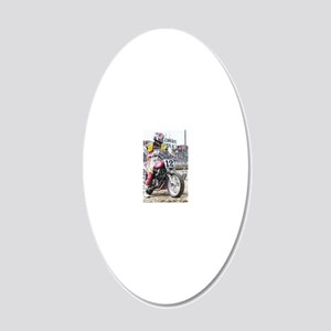 Brad Baker 20x12 Oval Wall Decal