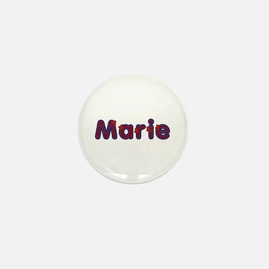 Marie Red Caps Mini Button