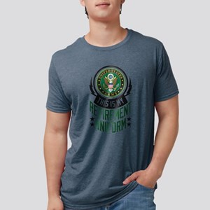 Army Retirement Uniform Mens Tri-blend T-Shirt