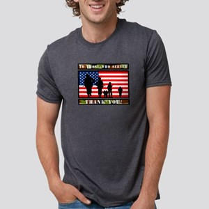 TO THOSE WHO SERVED Mens Tri-blend T-Shirt