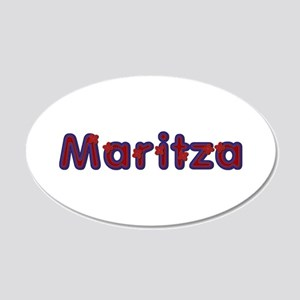 Maritza Red Caps 20x12 Oval Wall Decal