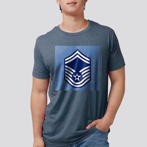 USAFSeniorMasterSergeantCoa Mens Tri-blend T-Shirt