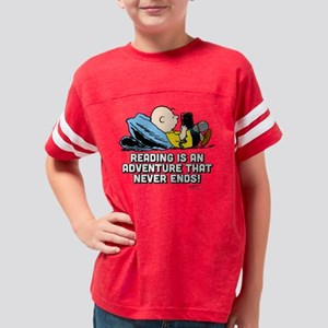 Charlie Brown-Peanuts Reading Youth Football Shirt