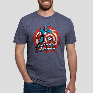Captain America Shield Mens Tri-blend T-Shirt