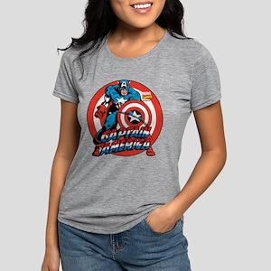 Captain America Shield Womens Tri-blend T-Shirt