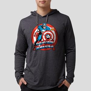 Captain America Shield Mens Hooded Shirt
