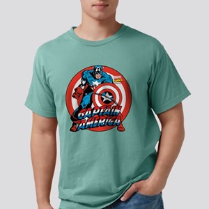 Captain America Shield Mens Comfort Colors Shirt