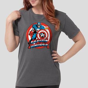 Captain America Shield Womens Comfort Colors Shirt