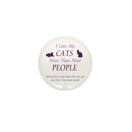 I Love My Cats 2 Mini Button