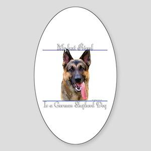 GSD Best Friend2 Oval Sticker