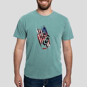 Captain America Flag Str Mens Comfort Colors Shirt