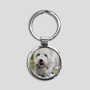 Guarding Snoopy Round Keychain