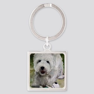 Guarding Snoopy Square Keychain
