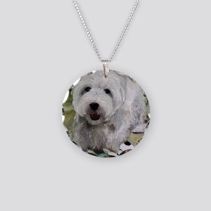 Guarding Snoopy Necklace Circle Charm