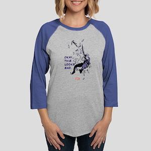 Hawkeye Looks Bad Light Womens Baseball Tee
