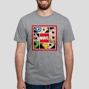 Chibi Avengers Square Mens Tri-blend T-Shirt