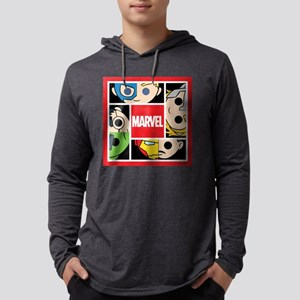 Chibi Avengers Square Mens Hooded Shirt