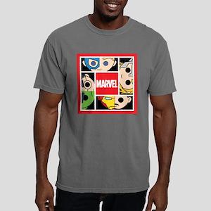Chibi Avengers Square Mens Comfort Colors Shirt