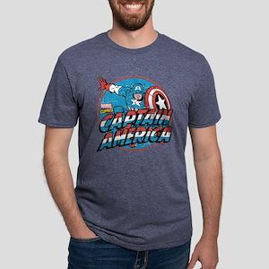 Captain America Vintage Mens Tri-blend T-Shirt