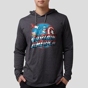 Captain America Vintage Mens Hooded Shirt