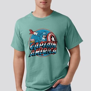 Captain America Vintage Mens Comfort Colors Shirt