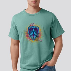 GOTG Logo Neon Splat Mens Comfort Colors Shirt