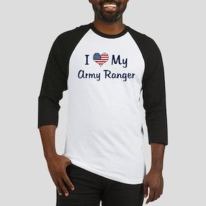 Army Ranger: Flag Love Baseball Jersey