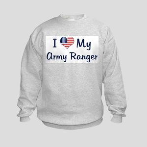 Army Ranger: Flag Love Kids Sweatshirt