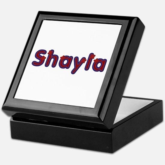 Shayla Red Caps Keepsake Box