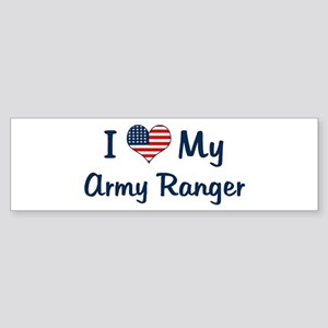 Army Ranger: Flag Love Bumper Sticker