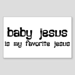 """Baby Jesus"" Rectangle Sticker"